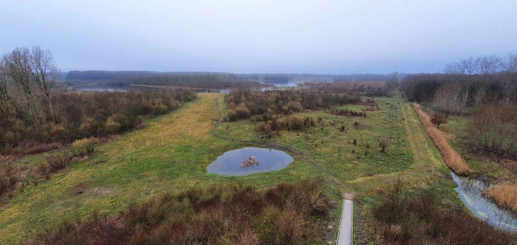 Uitzicht vanaf de uitkijktoren in Horsterwold