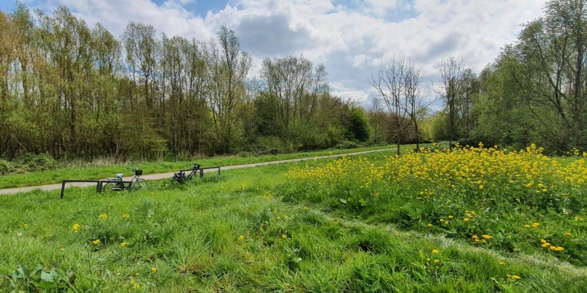 Fietsroute door Almere